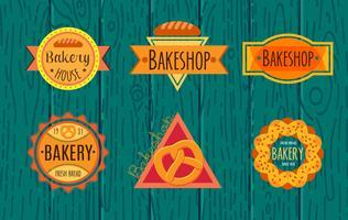 Coleção de padaria retro vintage