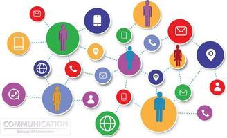 comunicação de pessoas sociais conectadas à rede vetor