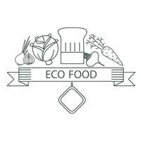 alimento ecológico de crachá vetor