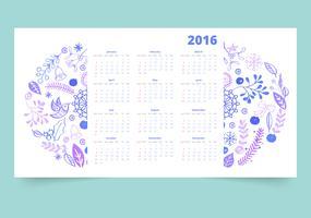 Calendário 12 meses vetor