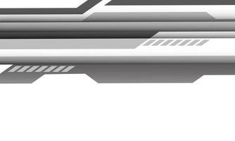 abstrato cinza cyber linha geométrica em branco com espaço em branco design moderno futurista tecnologia fundo vetor