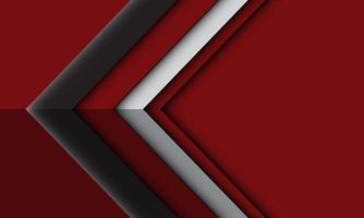 cinza prata seta sombra fundo vermelho moderno futurista de tecnologia vetor