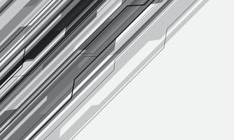 cinza cibernético geométrico sobre fundo branco de tecnologia futurista vetor