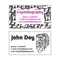 cartões de visita em cristalografia vetor