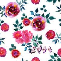 Lindas flores desenhadas à mão.
