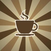 xícara de café no fundo com três tons de marrom vetor