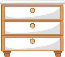 três gavetas para design de interiores vetor