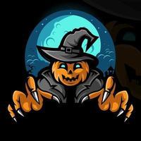 assustador halloween abóbora ilustração desenho vetorial vetor
