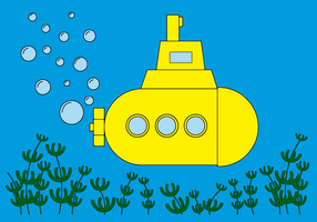 Vetor submarino livre