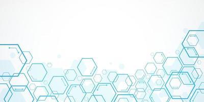 fundo abstrato hexágono, conceito poligonal de tecnologia vetor