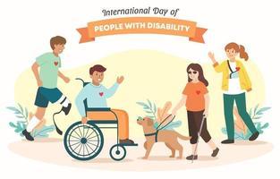 dia internacional da pessoa com deficiência vetor