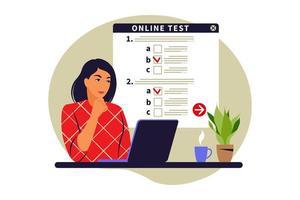 teste on-line do conceito. vetor