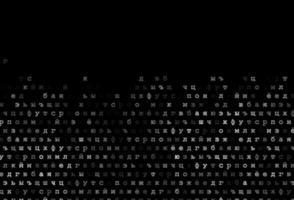 modelo de vetor cinza escuro, prata com letras isoladas.