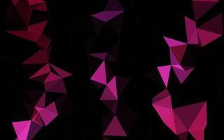 modelo poligonal de vetor rosa escuro.