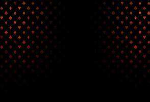textura vector vermelho escuro com cartas de jogar.
