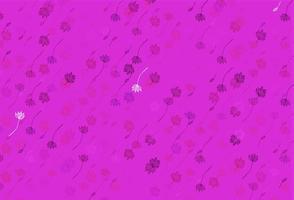 capa de doodle de vetor rosa e roxo claro.