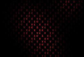 roxo escuro, padrão de vetor rosa com eur, usd, gbp, jpy.