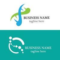 dna logo template vector icon design