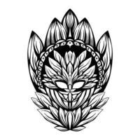 ilustração em preto e branco da arte do vetor soulbeing