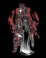 ilustração da arte do caçador de demônios com vetor de grande espada