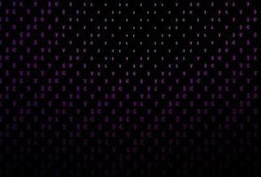 modelo de vetor roxo escuro com eur, usd, gbp, jpy.