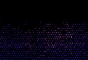 capa de vetor rosa escuro, azul com símbolos ingleses.