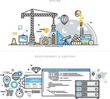 design gráfico e web e desenvolvimento vetor