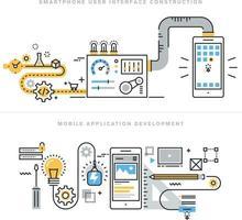 design e desenvolvimento de aplicativos móveis vetor