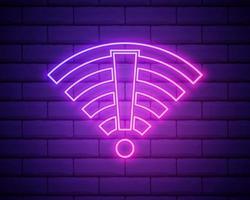 wi fi ban, ícone de proibição. linha fina simples, vetor de contorno de proibição