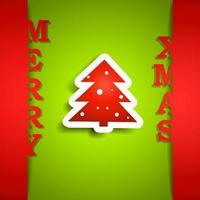 cartão de papel feliz natal vetor