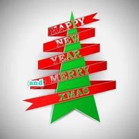ilustração vetorial feliz ano novo e feliz natal vetor