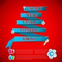 ilustração em vetor cartão feliz natal