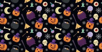 fundo colorido padrão para o feriado de halloween - vetor