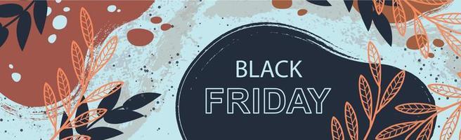 grandes descontos de outono de sexta-feira negra, banner de anúncio da web - vetor