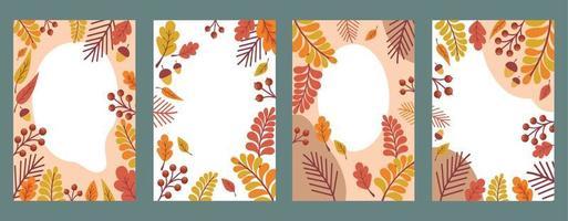 modelos abstratos de arte genérica na moda do outono. adequado para capa, banner da web, cartaz, folheto, cartaz, cartão postal - vetor