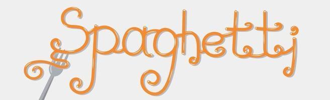 word spaghetti estilizado como um logotipo elegante - vetor