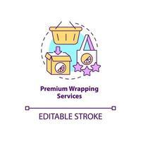 ícone de conceito de embalagem premium vetor