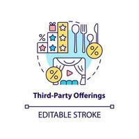 ícone do conceito de ofertas de terceiros vetor