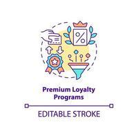 ícone de conceito de programas de fidelidade premium vetor