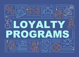banner de conceitos de palavras azuis de programas de fidelidade vetor