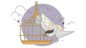 Vetor de pássaro livre