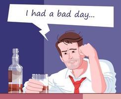 ilustração em vetor cor lisa dependência de álcool