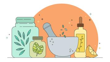 Vetor de medicina homeopática