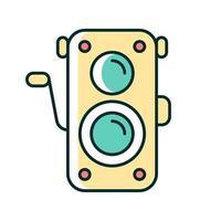 ícone de cor rgb de câmera de foto antiga vetor