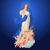 concepção imaculada virgem maria defesa católica vetor