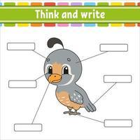parte do corpo. aprender palavras. planilha de desenvolvimento de educação. página de atividades para estudar inglês. jogo para crianças. personagem engraçado. ilustração isolada do vetor. estilo de desenho animado. vetor