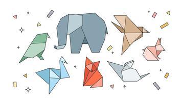 Vetor de animais origami