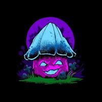 ilustração de cogumelo zumbi vetor