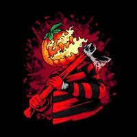 ilustração de abóbora de halloween vetor