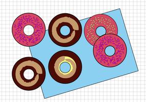 Vetor de Donuts grátis